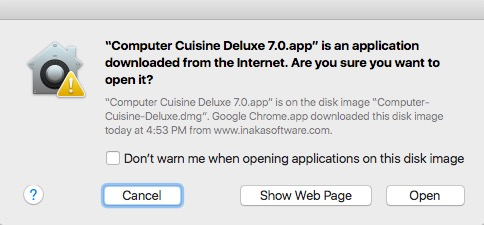 Computer Cuisine Deluxe Are you Sure