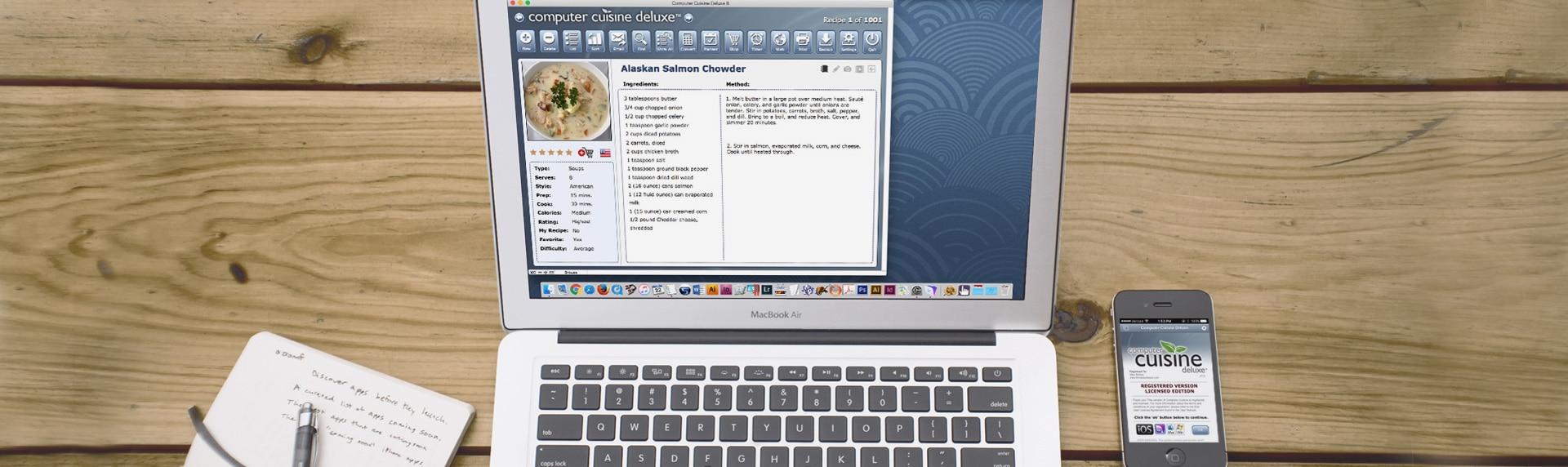Computer Cuisine Deluxe Main Laptop