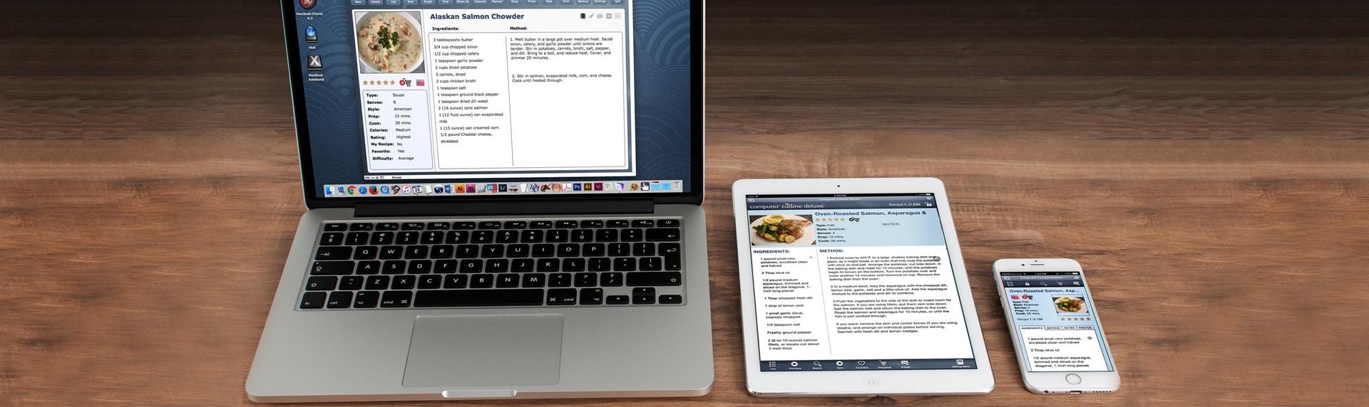 Computer Cuisine Deluxe Mac Recipe Organizer Devices