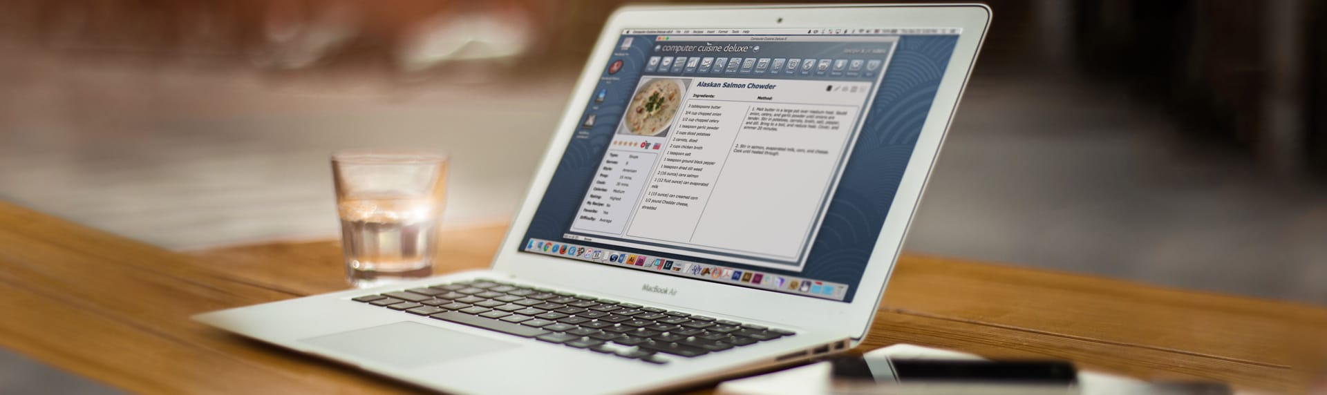 computer cuisine laptop mac recipe software