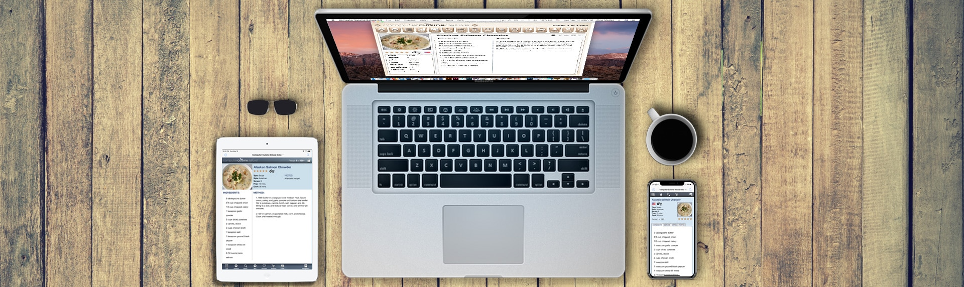 computer cuisine laptop mac recipe software version 9 MacBook Pro macOS MacBook Pro iPhone iPad