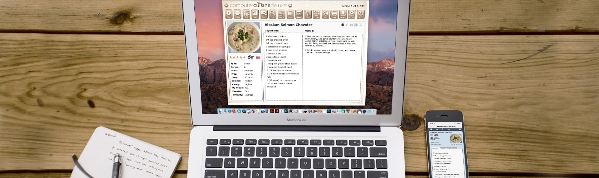 computer cuisine laptop mac recipe software version 9 MacBook Pro macOS MacBook Pro iPhone